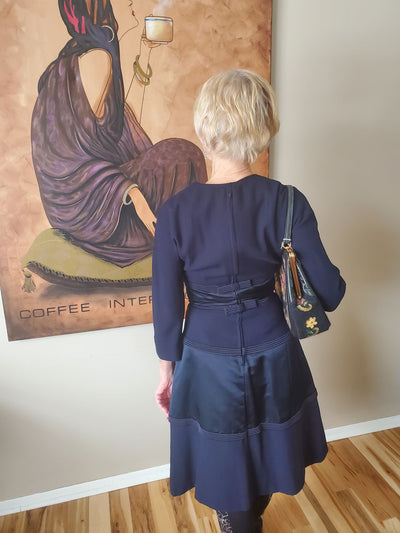Vintage Dior Navy Dress - Naturally Canada