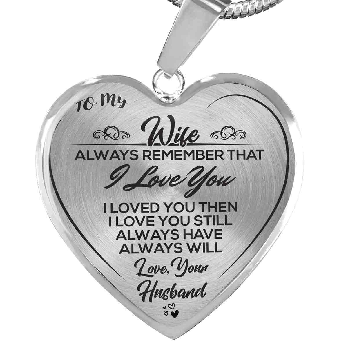 To My Wife - Love, Your Husband Luxury Heart Necklace