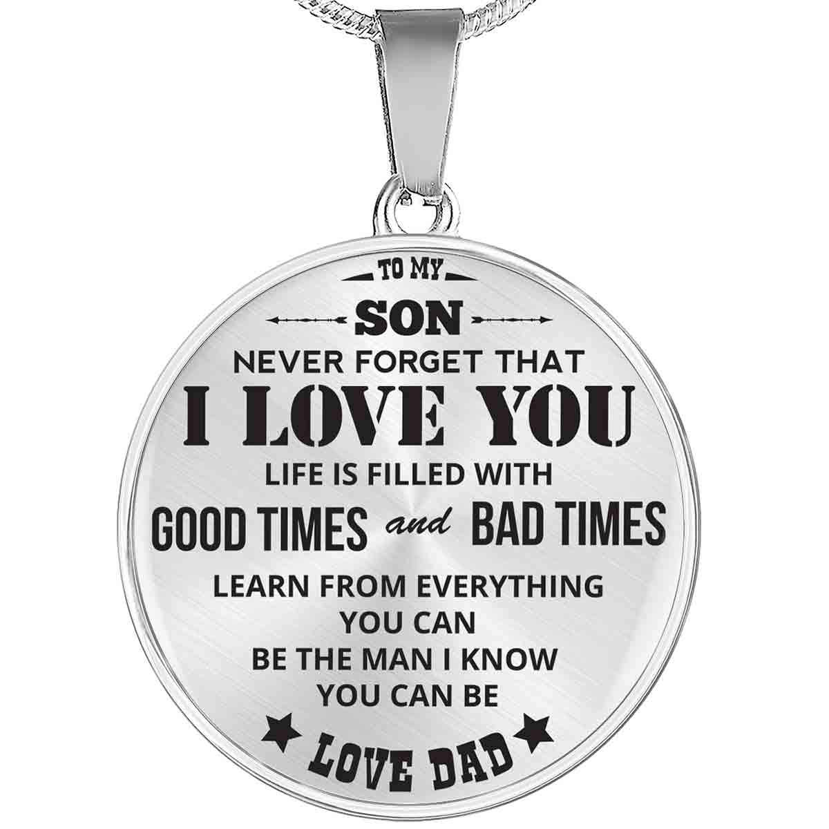 To My Son - Love Dad - Necklace
