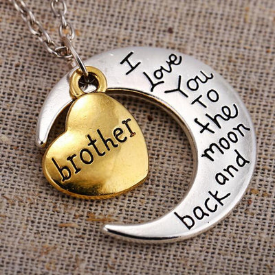 "Vintage ""I Love You To The Moon And Back"" Family Necklace Pendants - Passion Jewelry Shop - 3"