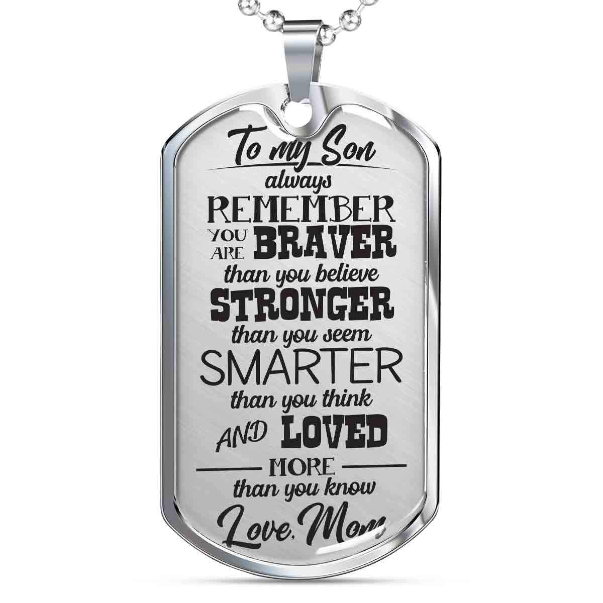 To My Son - Love Mom Dog Tag (EO)