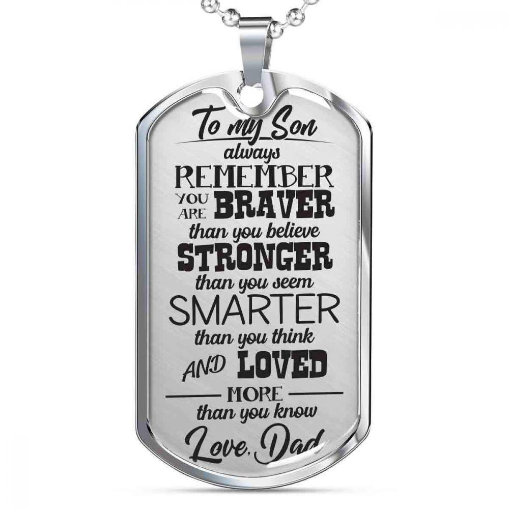 To My Son - Love Mom Dog Tag (NE)