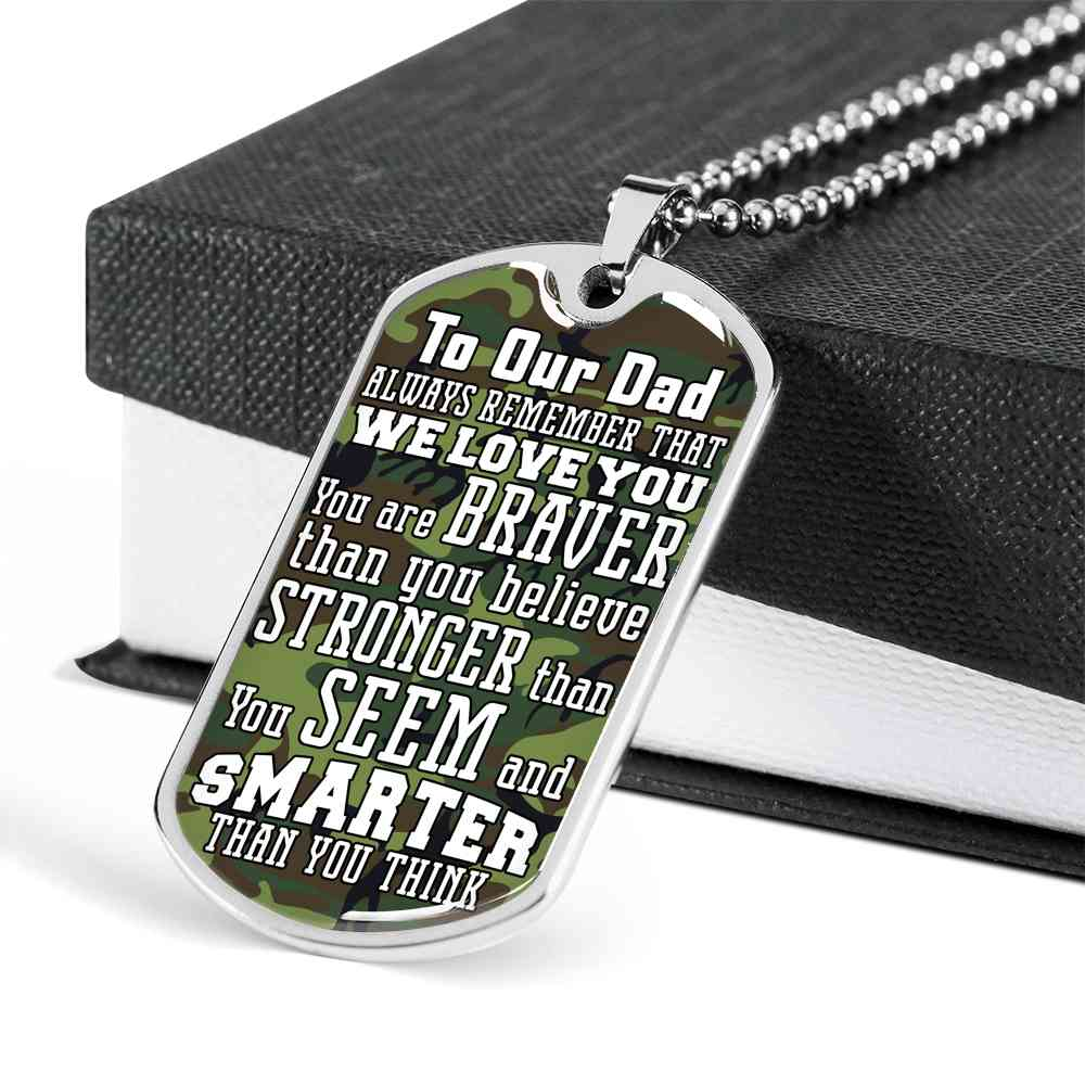 To Our Dad - Military Dog Tag - (MADE IN THE USA)