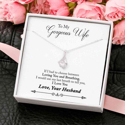 To My Gorgeous Wife - Alluring Beauty Necklace