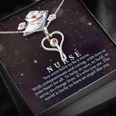 You Were Born To Be A Nurse - Stethoscope Necklace