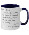 Dear Dad - 2 Tone Coffee Mug