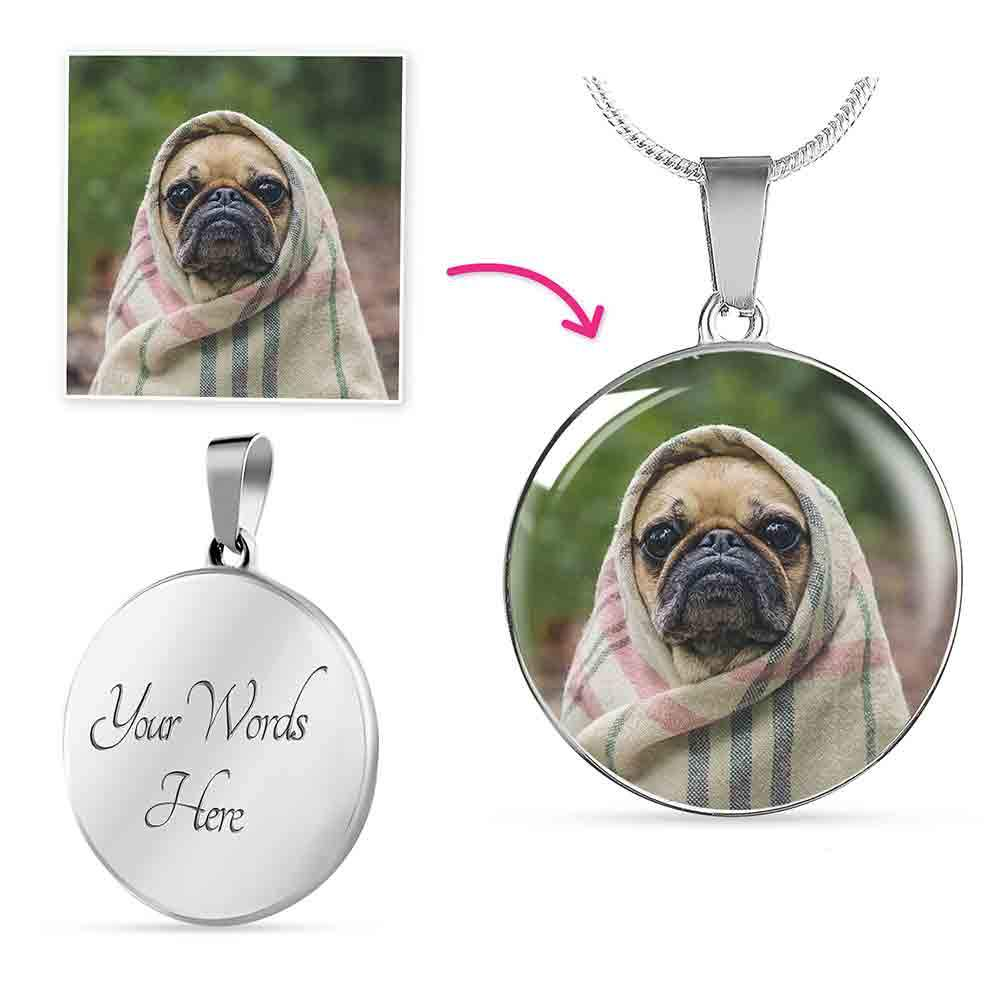 Personalized Engravable Photo Necklace
