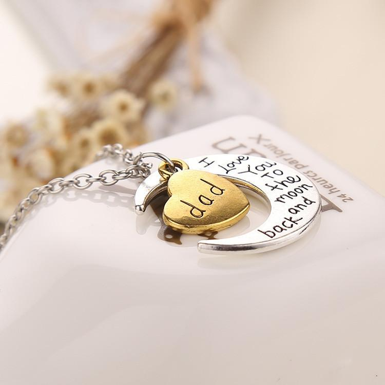 "Vintage ""I Love You To The Moon And Back"" Family Necklace Pendants - Passion Jewelry Shop - 4"