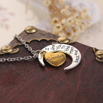 "Vintage ""I Love You To The Moon And Back"" Family Necklace Pendants - Passion Jewelry Shop - 8"