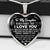 Never Forget - I Love You - Love Dad - Silver Necklace