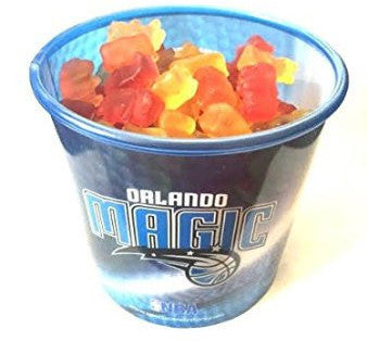 NBA Orlando Magic Candy In Collectible Tub Gummy Bears (12 Pack)