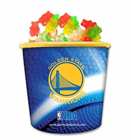 NBA Golden State Warriors Candy In Collectible Tub Gummy Bears (12 Pack)