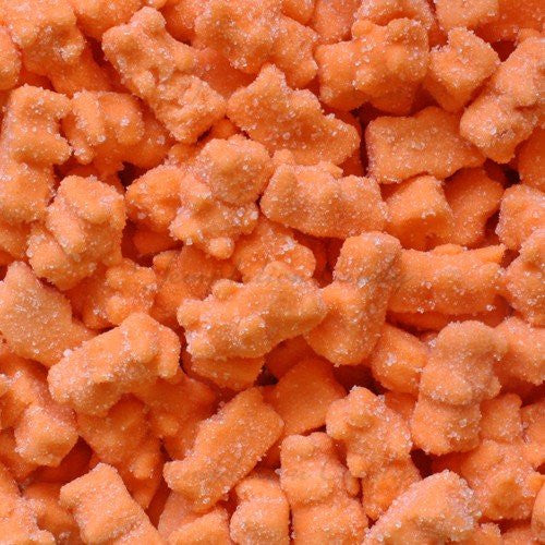Neon Orange Gummy Bears 5lb Bulk Bag