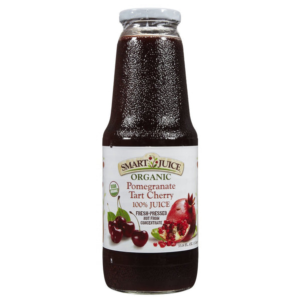 Smart Juice POMEGRANATE-TART CHERRY 100% Organic Juice (6 Pack)