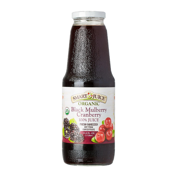 Smart Juice BLACK MULBERRY & CRANBERRY 100% Organic Juice (6 Pack)