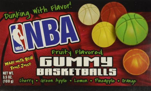 NBA Gummy Basketballs (12 Pack)