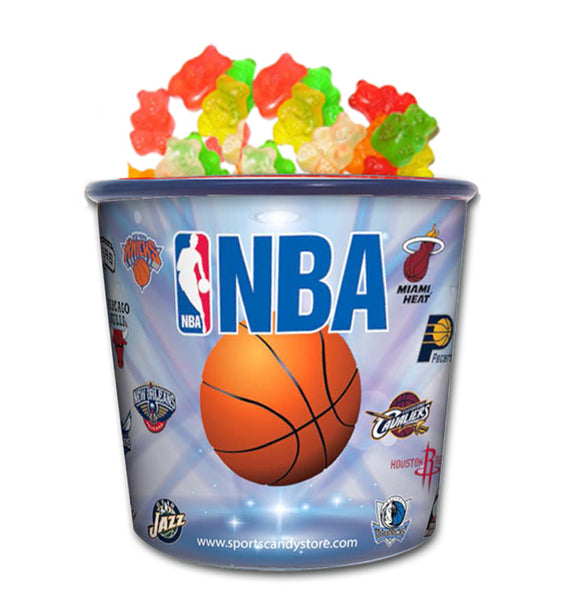 NBA Team Logo Candy In Collectible Tub Gummy Bears (12 Pack)