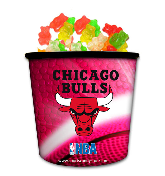 NBA Chicago Bulls Candy In Collectible Tub Gummy Bears (12 Pack)