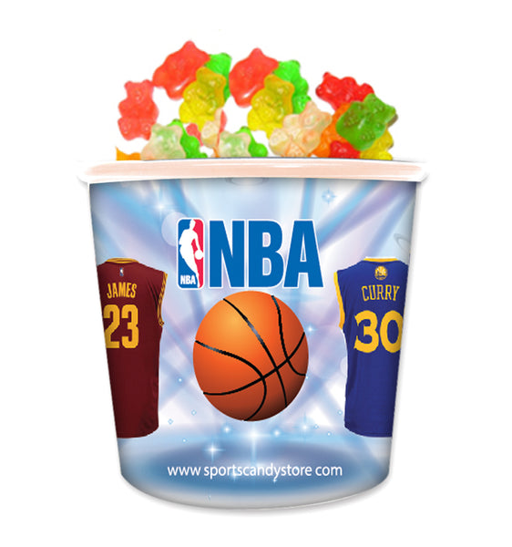 NBA Team Jerseys Candy In Collectible Tub Gummy Bears 2 (12 Pack)