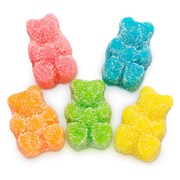 Sour Neon Gummy Bears Bulk 5lb Bag