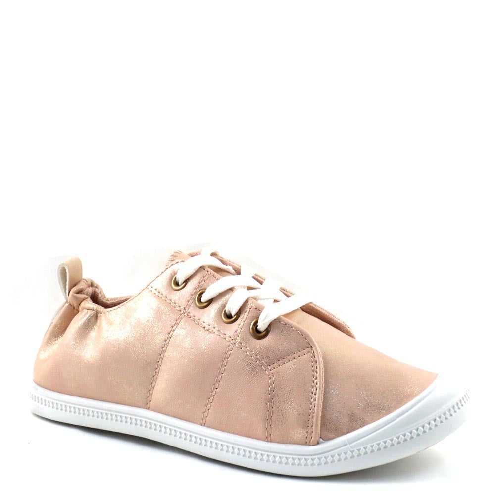 Pierre Dumas Round Toe Stretchy Upper Lace Up Sneakers - 81473