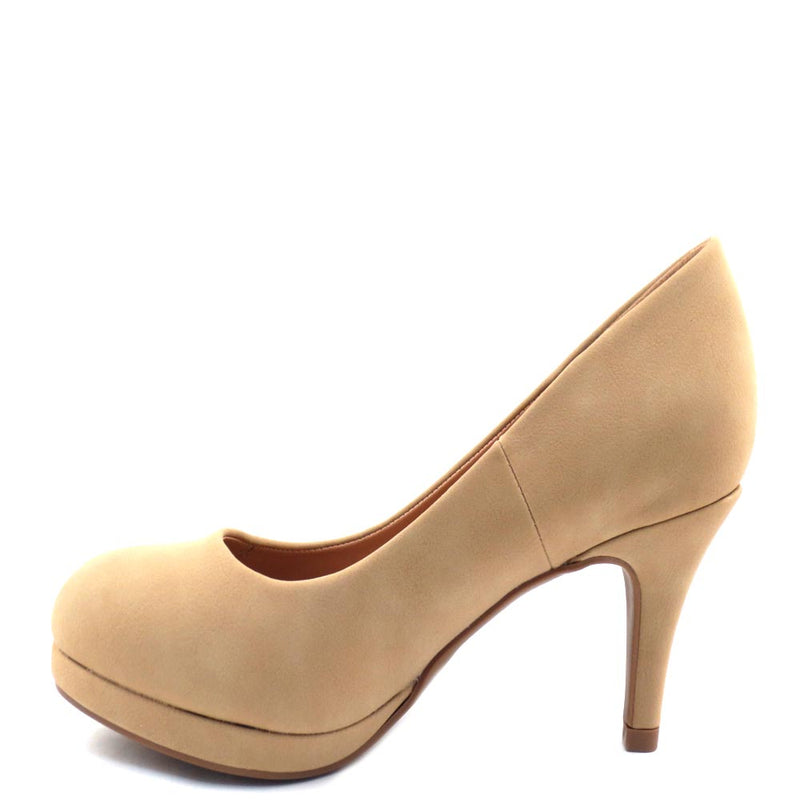 City Classified Classic Rounded Toe Platform Heel - Andi
