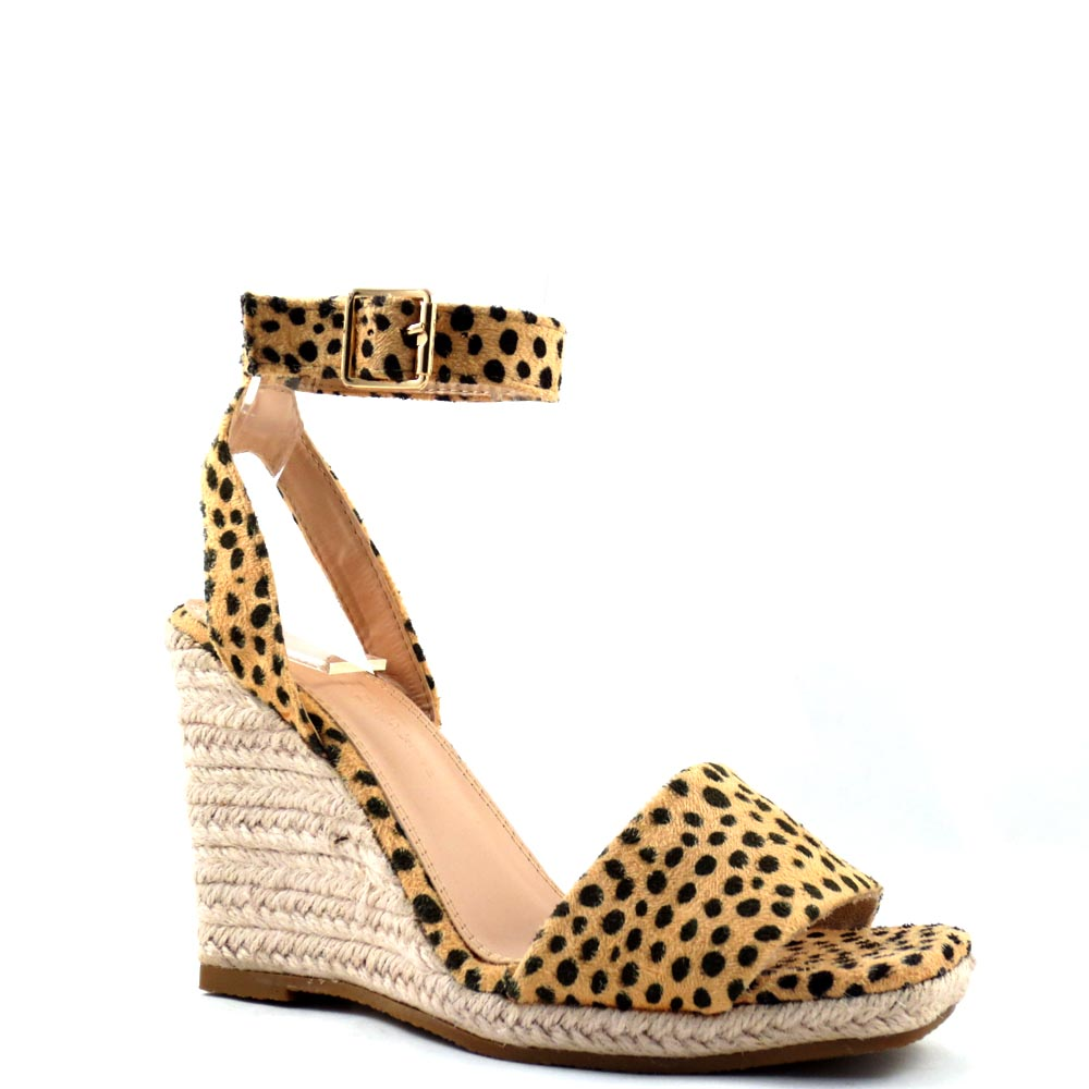 Wild Diva Lounge Open Square Toe Espadrille Wedge Sandals - Ara
