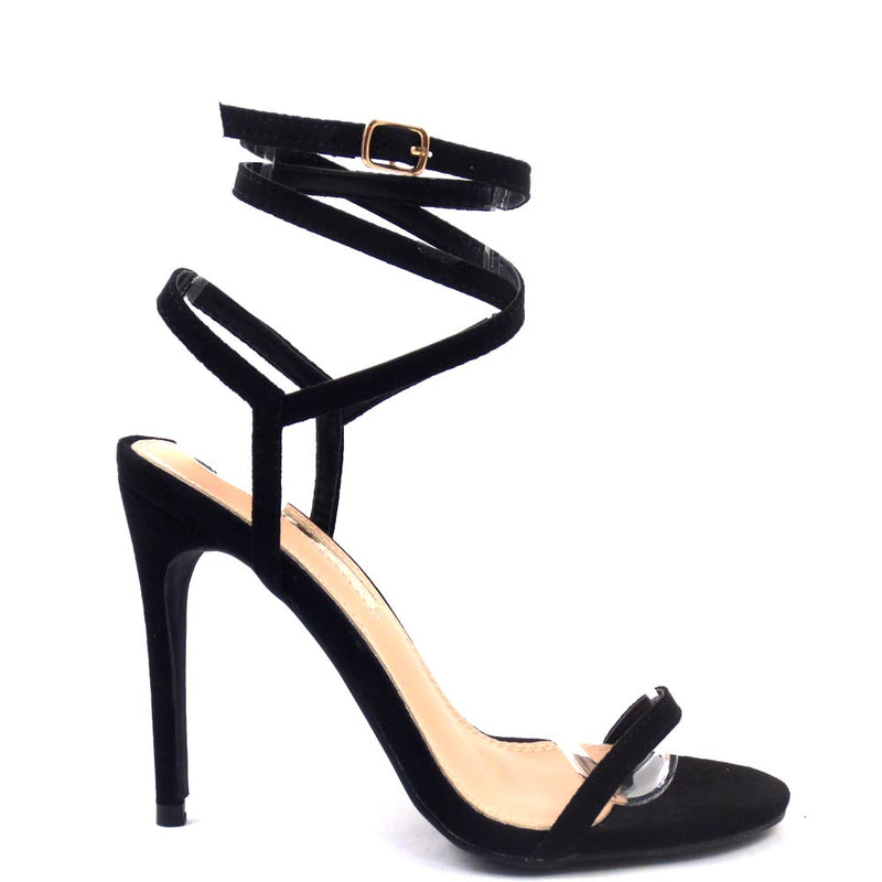Liliana Strappy Open Toe Ankle Laced Tie Up Heels - Beckham