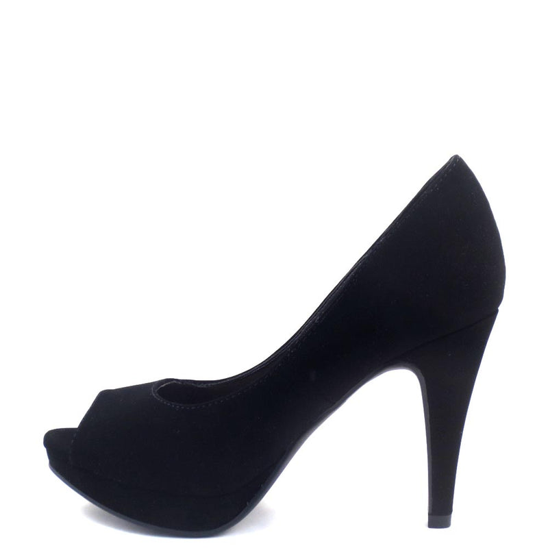 Women's City Classified Classic Nubuck Peep Toe Platform Stiletto Heel - Bree
