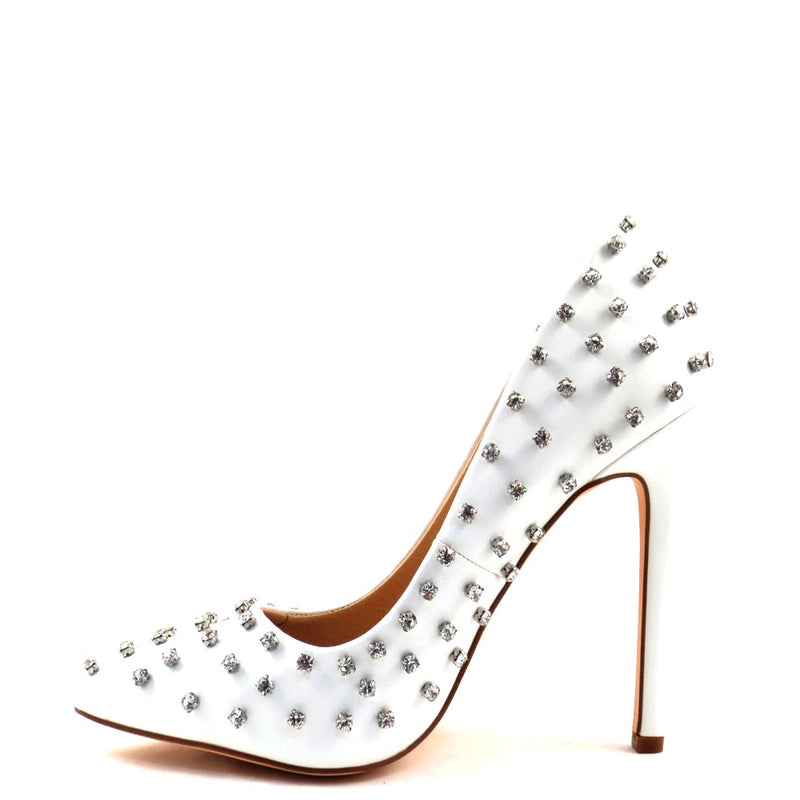 Olivia Jaymes Diamond Encrusted Closed Toe Heels - Bumble