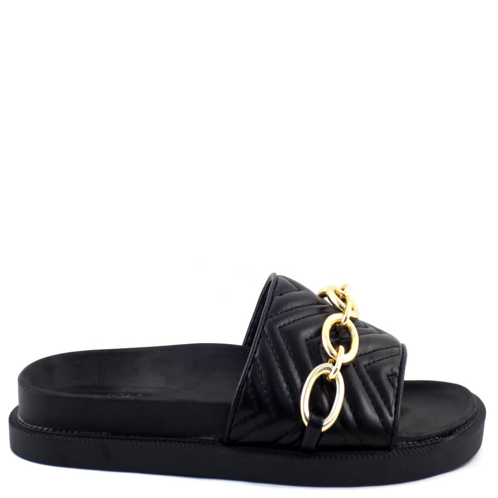 Liliana Open Toe Buckle Detail Platform Sandals - Carter 1