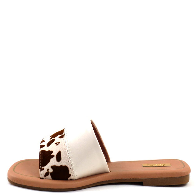 Qupid Open Toe Slide In Comfort Sandals - Castel 61