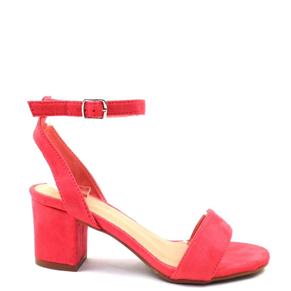 Women's Love Mark Open Toe Ankle Strap Short Block Heels - Dover