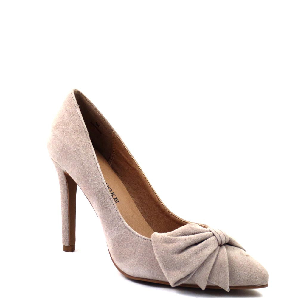 Audrey Brooke Branded Closed Toe Pointy High Heels - Edna