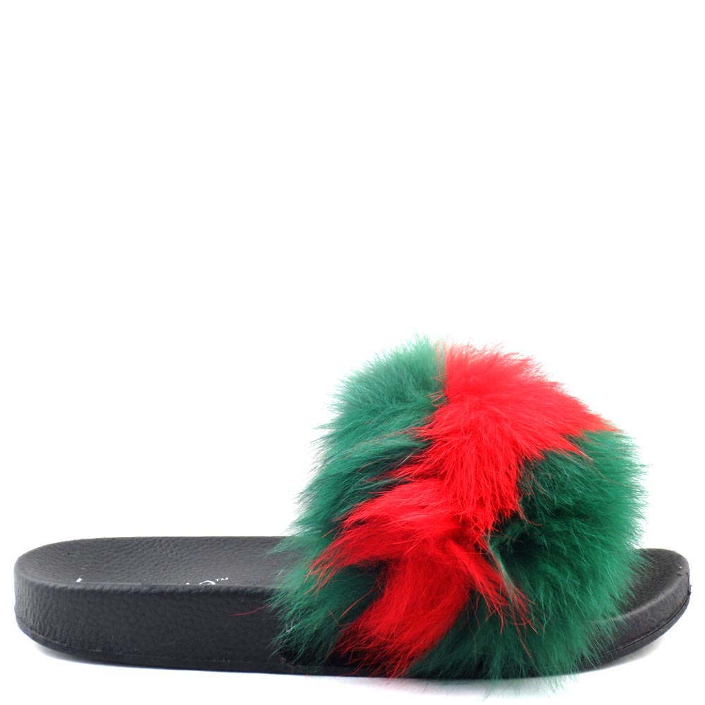 Liliana Furry Platform Sandals - Fanzzy 1A