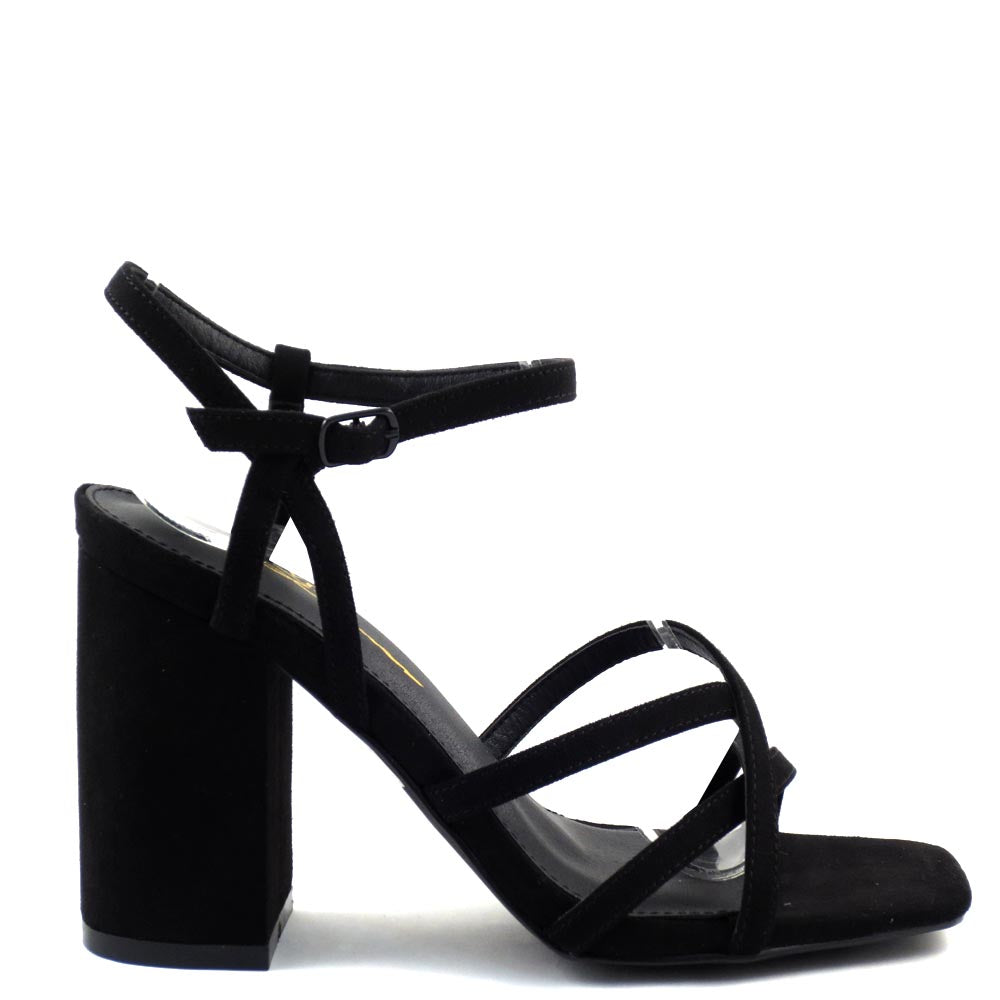Olivia Jaymes Strappy Open Toe Ankle Strap  Chunky Heels - HiFive