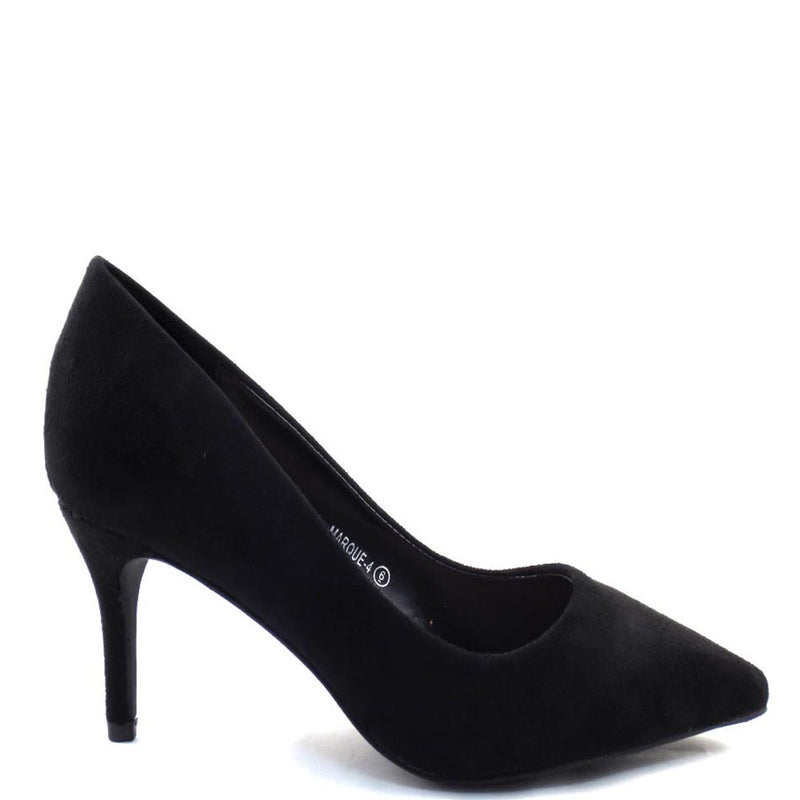 Love Mark Classic Closed Pointy Toe Pump Heels - Marque