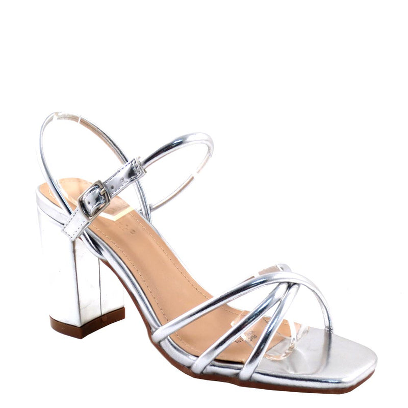 Love Mark Open Toe Knotted Strappy Sling Back Short Heels - Prado