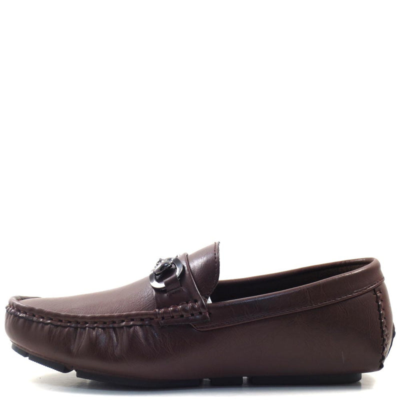 Men's Slip On Driver Moccasins with Metal Bit Strap - SED8034