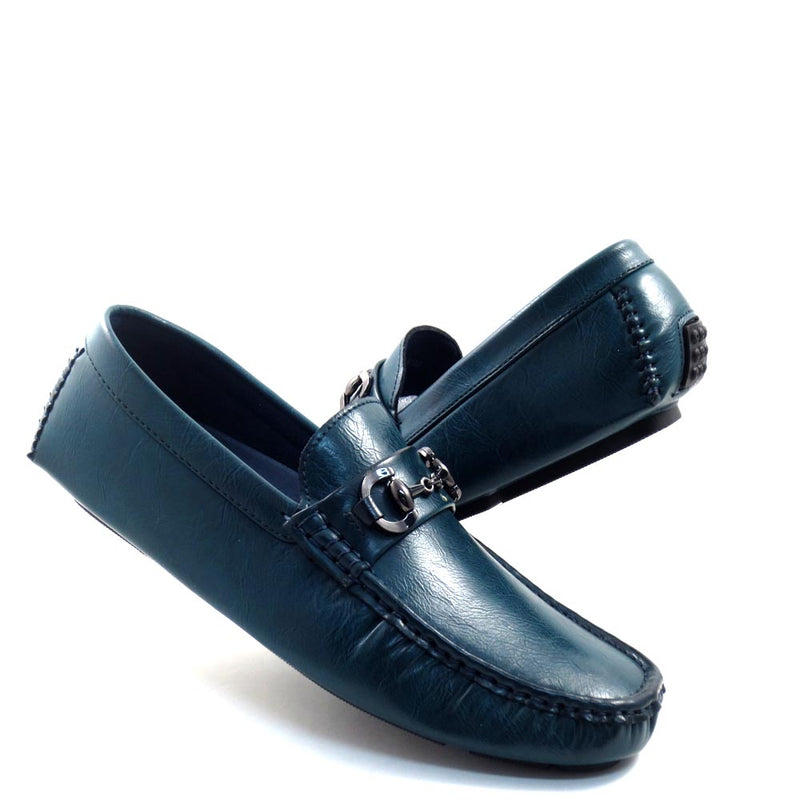 Slip On Driver Moccasins with Metal Bit Strap - SED8034