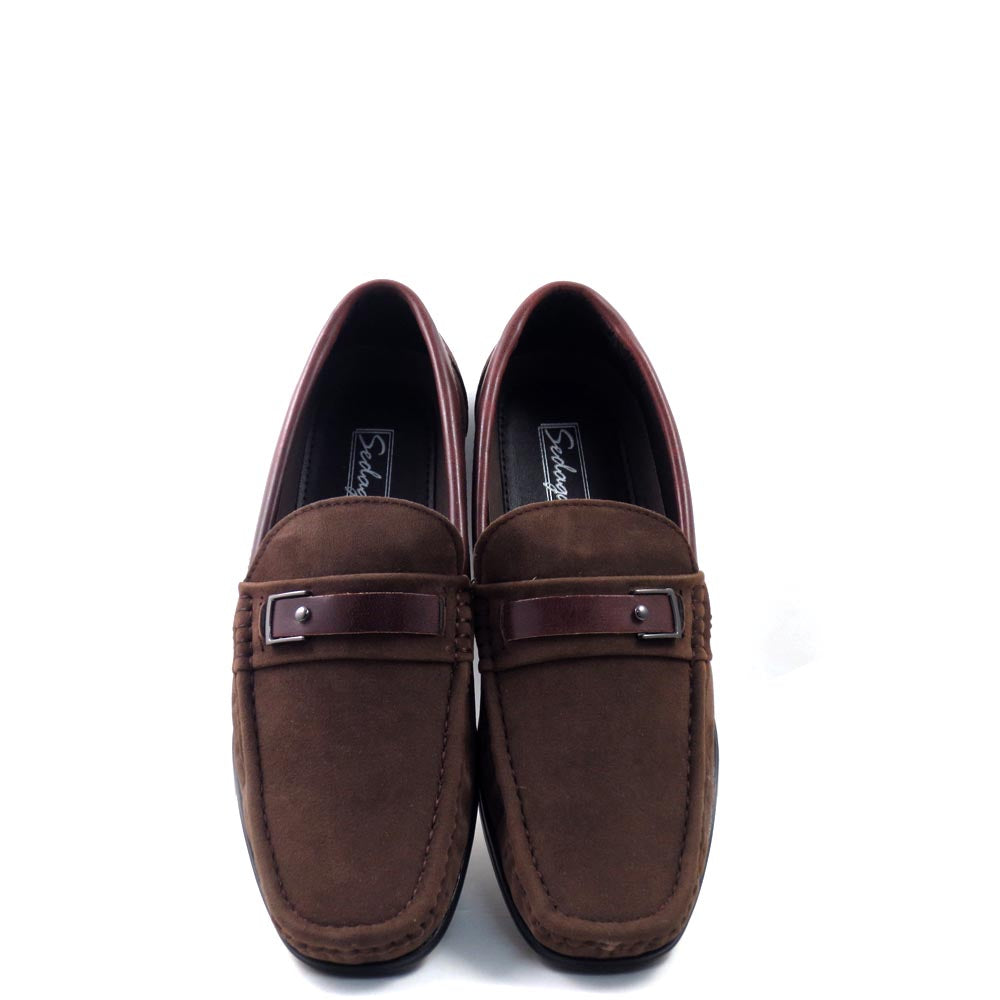 Men's Slip On Driver Moccasins with Leather Bit Strap - SED8035