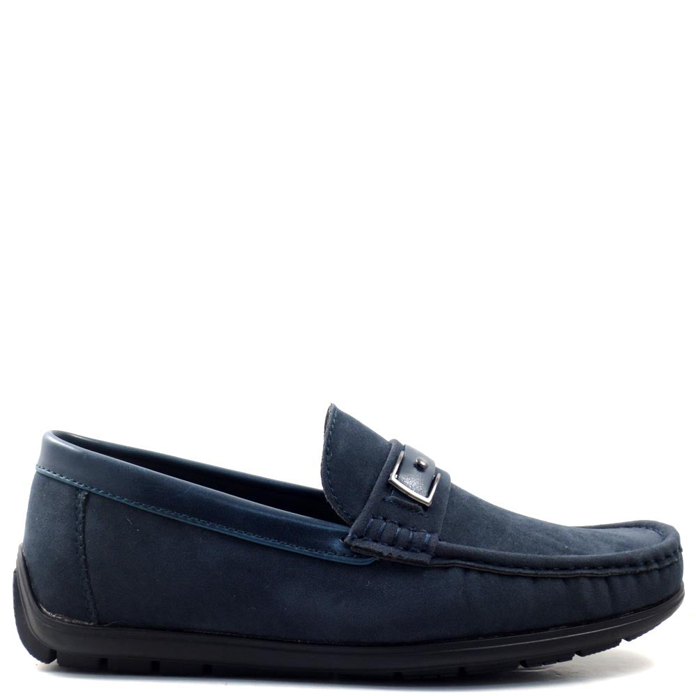 Slip On Driver Moccasins with Leather Bit Strap - SED8035