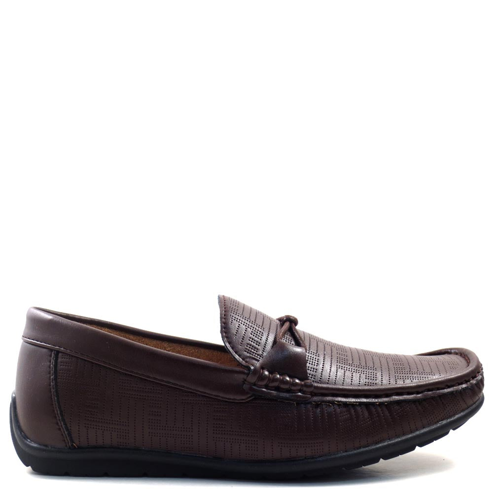 Men's Slip On Driver Moccasins with Braided Horse Strap - SED8036
