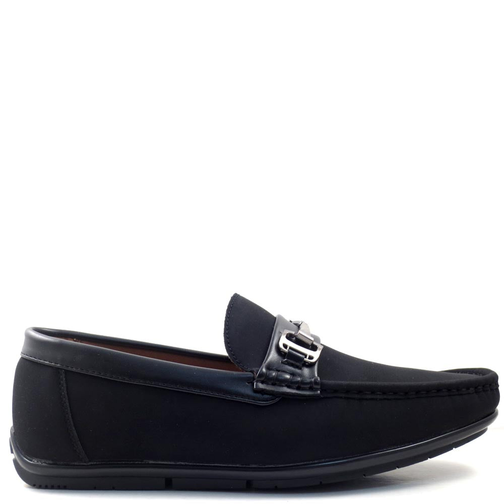 Men's Slip On Driver Moccasins with Metal Buckle Strap - SED8037