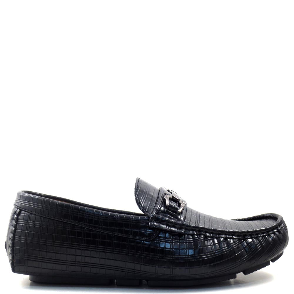 Slip On Driver Moccasins with Metal Buckle Strap - SED8038