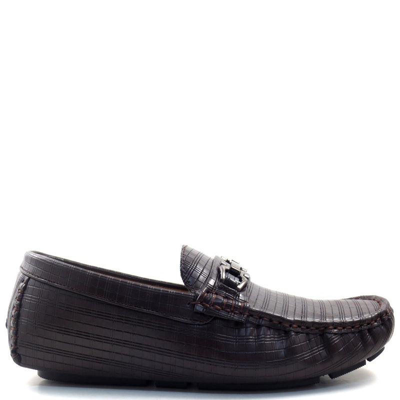 Men's Slip On Driver Moccasins with Metal Buckle Strap - SED8038