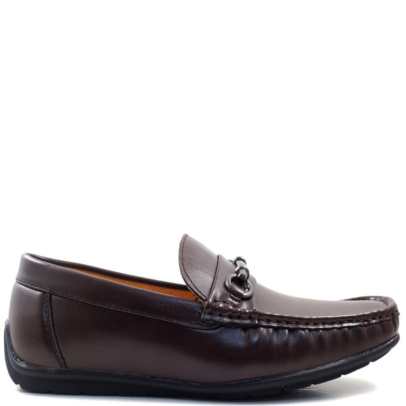 Slip On Driver Moccasins with Metal Buckle Strap - SED8039