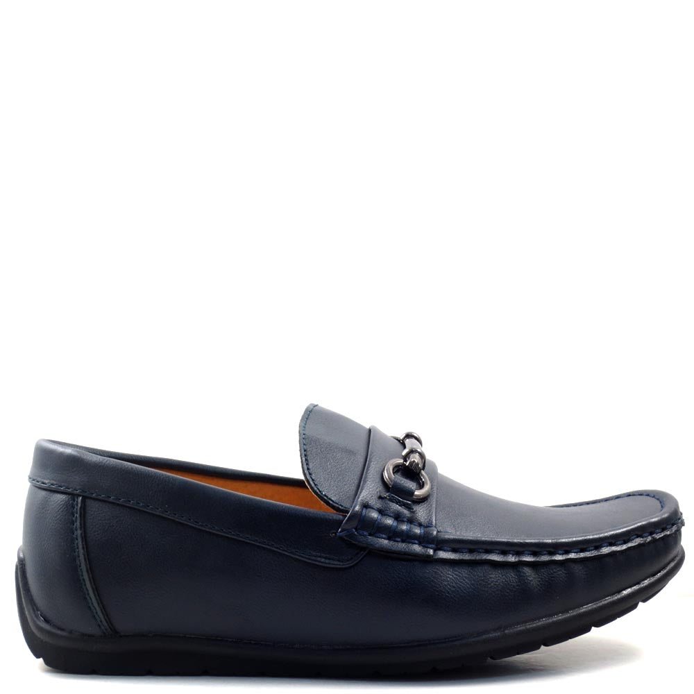 Men's Slip On Driver Moccasins with Metal Buckle Strap - SED8039