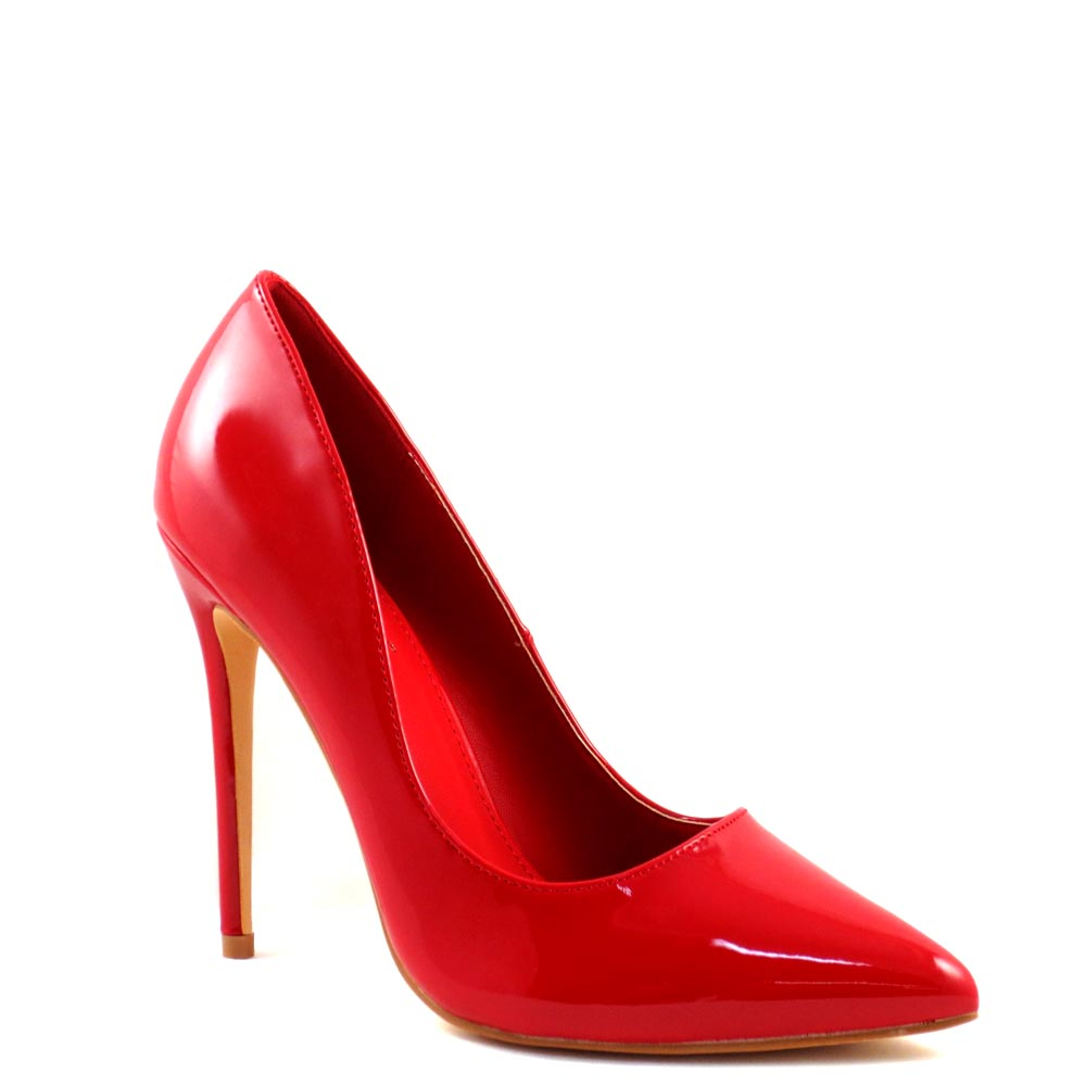 Elegant Classic Pointy Closed Toe Patent Stiletto Heels - Sofinie