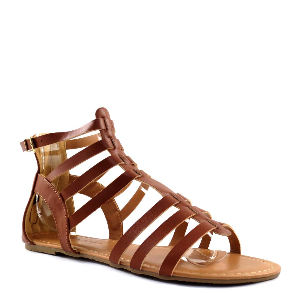 Wild Diva Lounge Strappy Gladiator Sandals - Tanaya